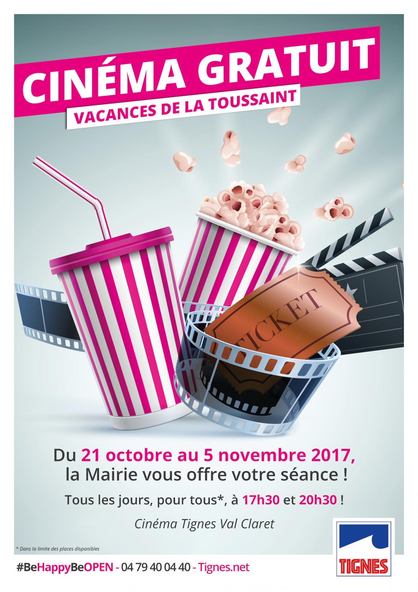 Cinéma gratuit à Tignes pour la Toussaint